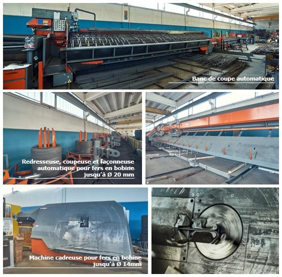 Machines pour la prodution d'acier coupée-faconnée et d'acier coupée-faconnée-assemblée